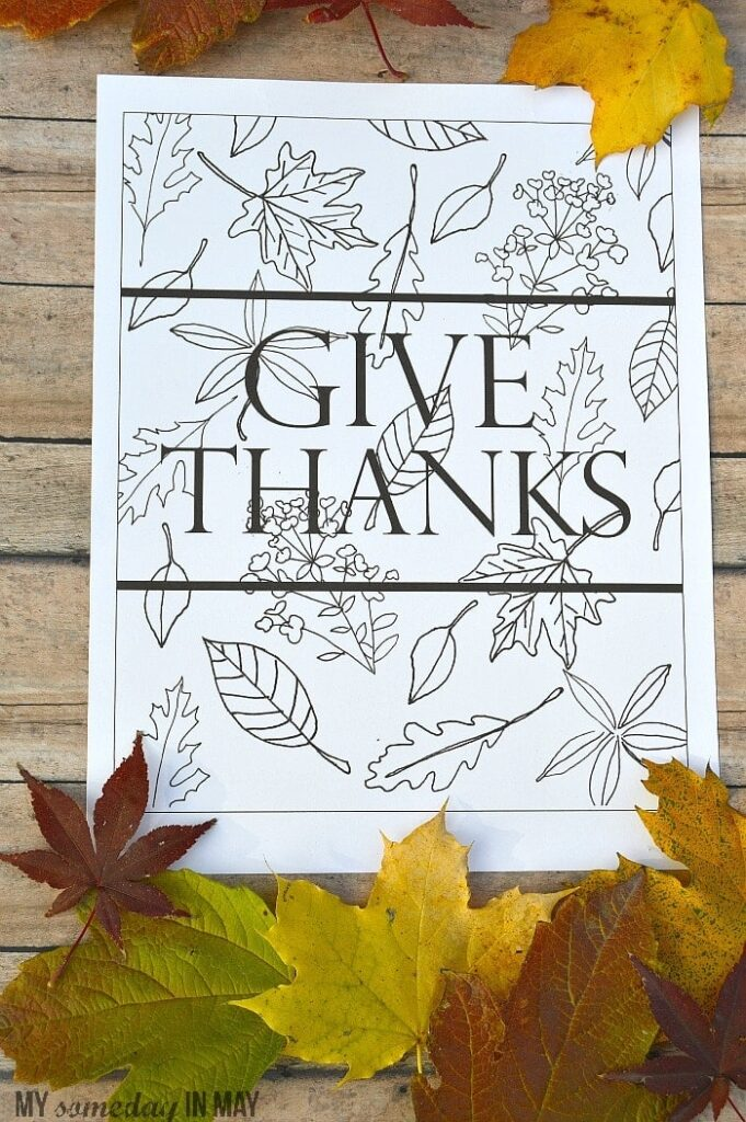 graphic regarding Give Thanks Printable identify Offer you Due Absolutely free Printable - Ella Claire