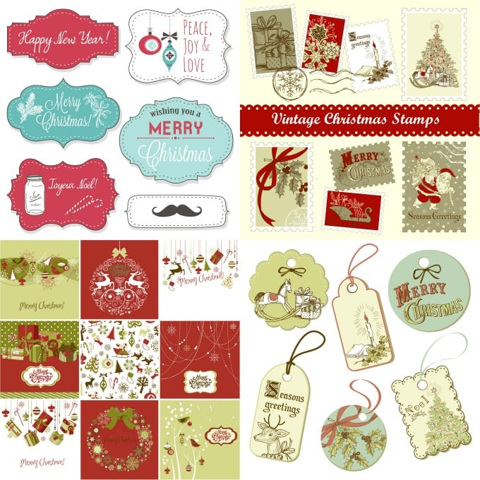 Free printable chalkboard wrapping paper and gift tags ella claire 1 2 negle Image collections