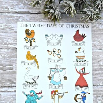 12 Days of Christmas | Free Printable