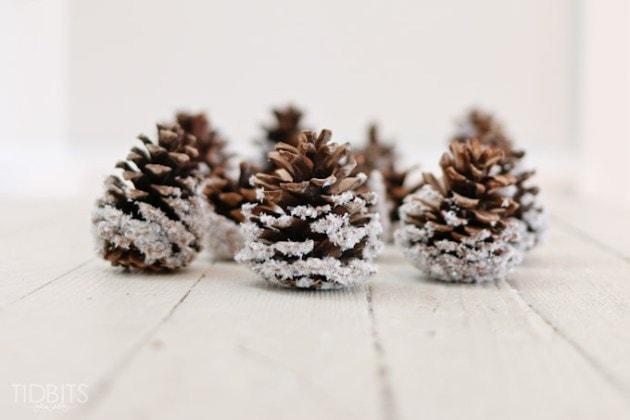 Pine Cone Christmas Tree Craft Project.Diy Snow Covered Pinecones Ella Claire