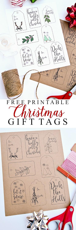 free printable christmas gift tags ella claire