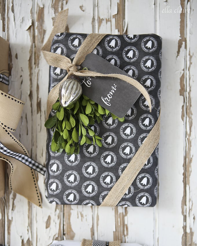 free printable chalkboard wrapping paper and gift tags ella