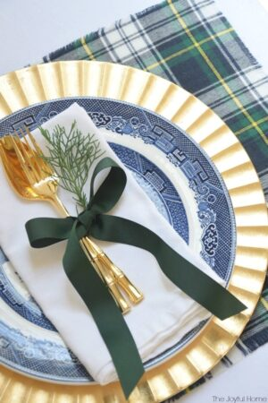 DIY Plaid Placemats