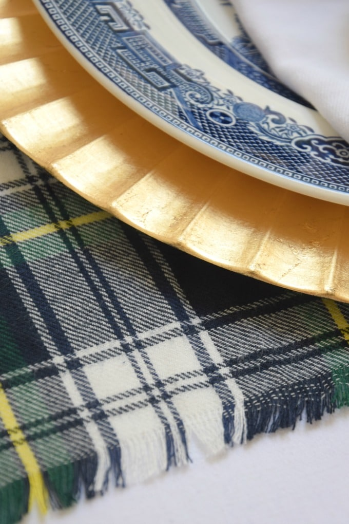 Easy DIY Plaid Placemats