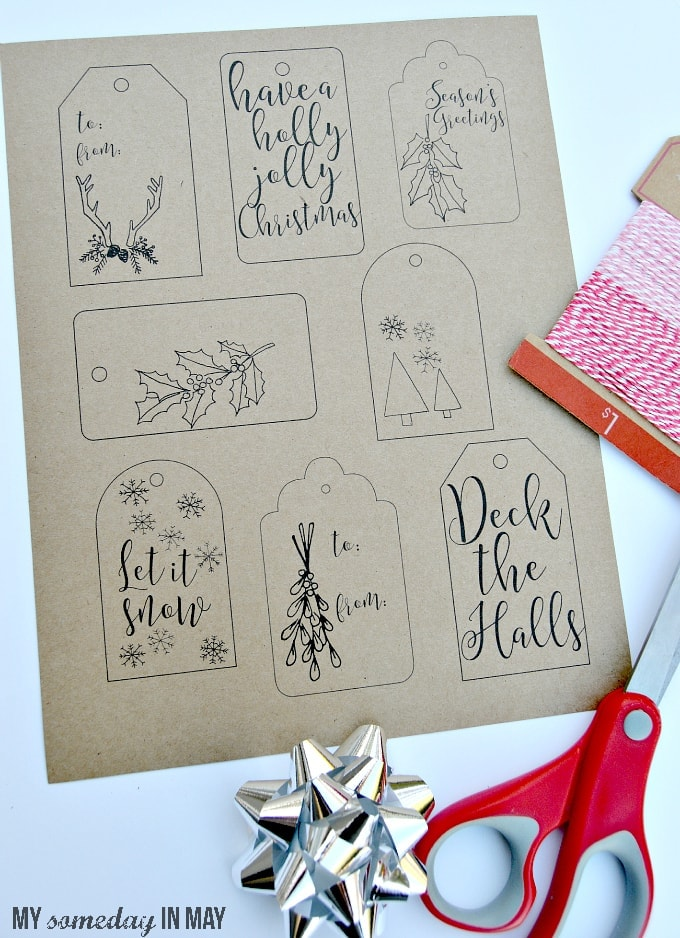 photo about Christmas Tag Free Printable called Cost-free Printable Xmas Reward Tags - Ella Claire