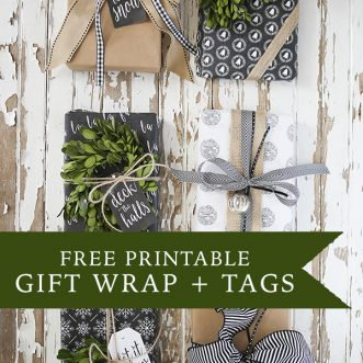 Free printable Christmas gift tags with a chalkboard/ black and white style. Perfect for all of those holiday gift exchanges!