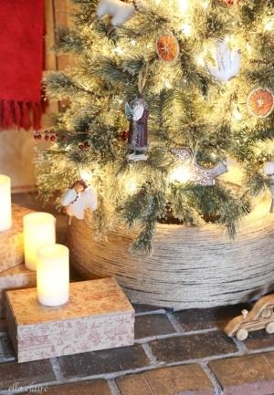 Repurposed Tire DIY Christmas Tree Stand