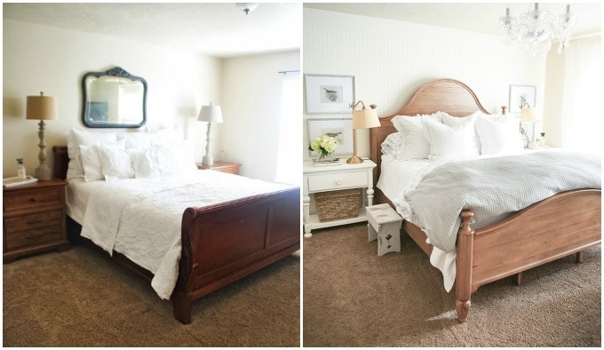 before and after bedroom makeovers master bedroom reveal a new bed ella 18232