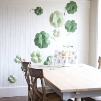 DIY Giant Paper Shamrocks | Free Printable