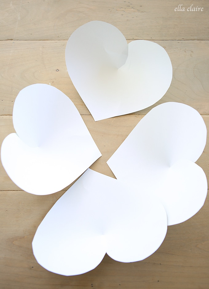 DIY Giant Paper Shamrocks Tutorial