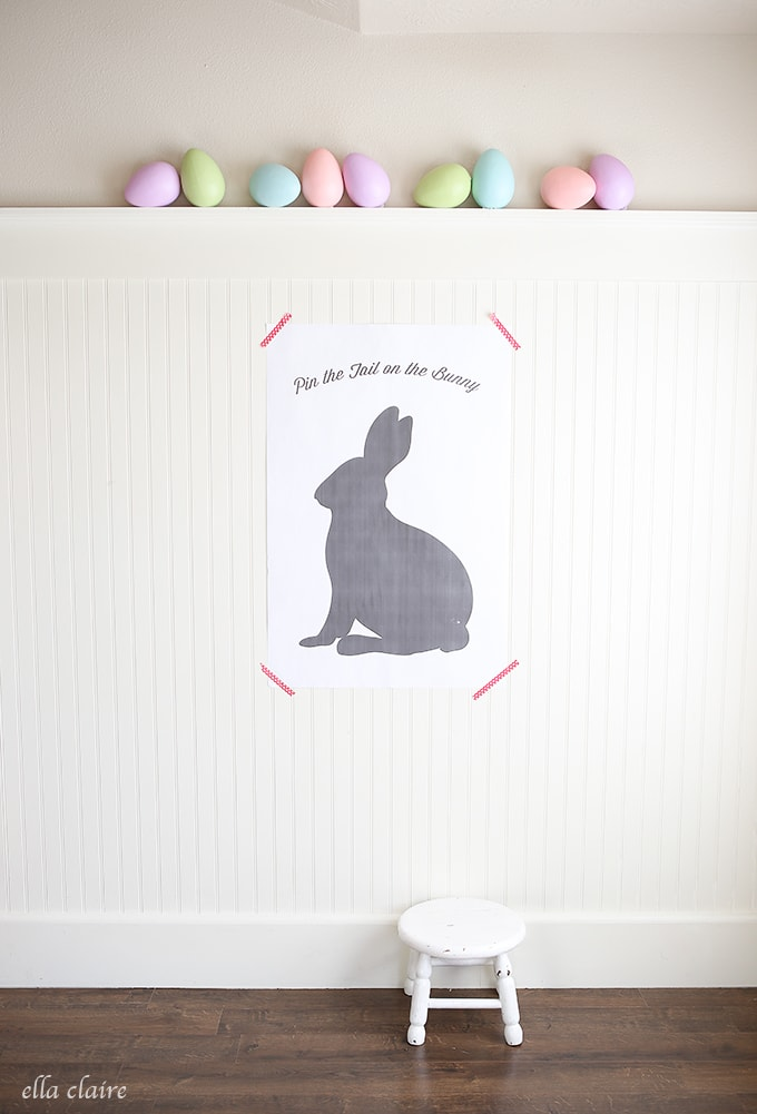 This Pin the Tail on the Bunny Printable ionly costs $4 to print and is the perfect game for Easter!