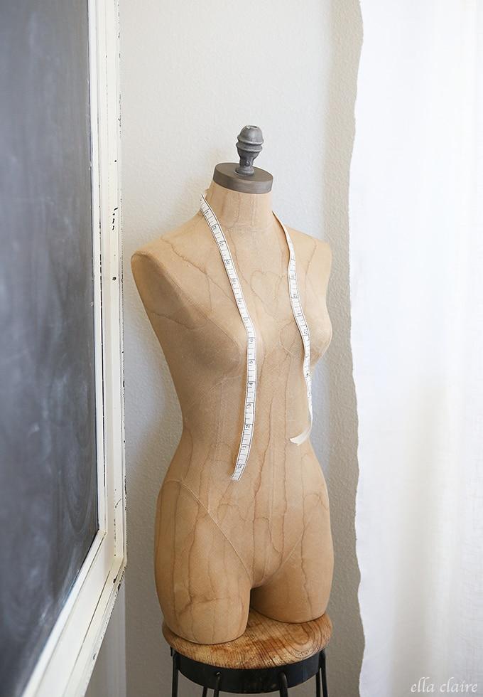 vintage dress form ~ Home Office/Studio Makeover