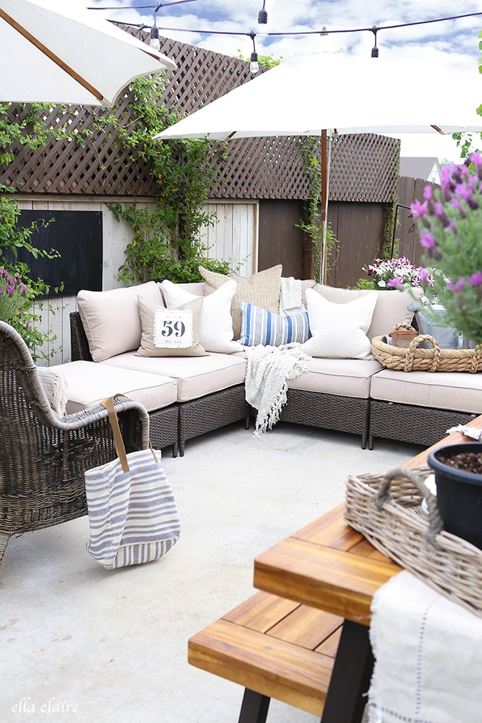 Create a cozy and inviting multi-functional patio space the whole family will enjoy all summer long!