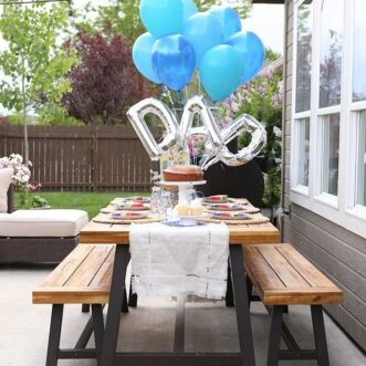Father's Day Party on the Patio