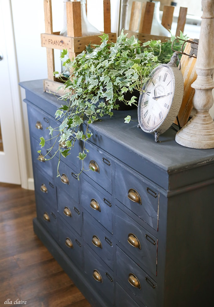 CD Cabinet makeover into Vintage Apothecary Cabinet