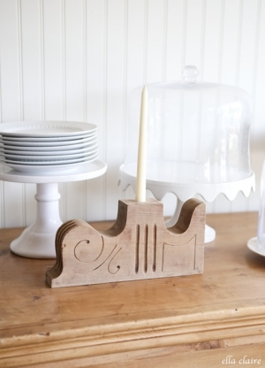 Turning Vintage Salvage into DIY Candlestick