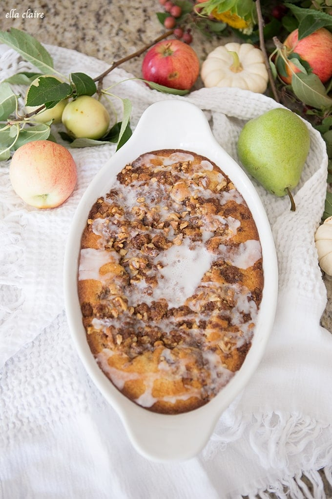 Apple & Walnut Coffee Cake