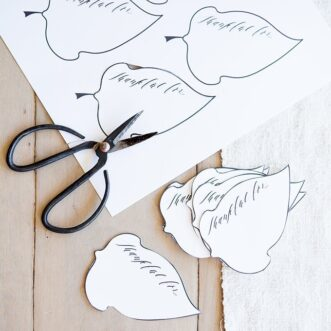 Thankful Tree Leaves | Printable