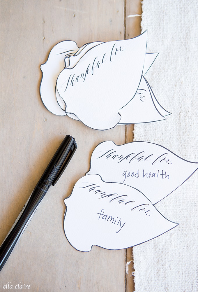 Free Printable Fall Thankful Leaves