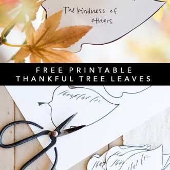 graphic about Thankful Leaves Printable titled Grateful Tree Leaves Printable - Ella Claire