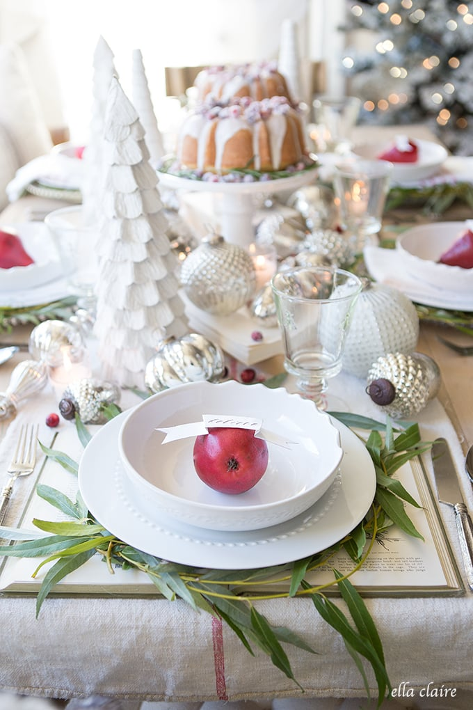 red pear place settings | Farmhouse Holiday Series