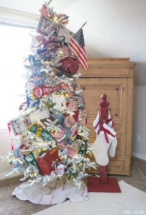 DIY Stocking Hanger and Vintage Toy Tree