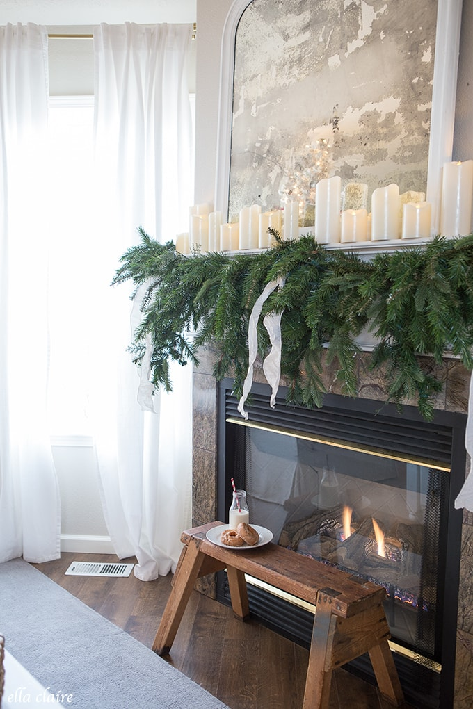 Elegant Mantel and Tree- Getting Ready for Santa Claus