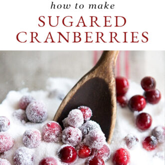 How to make sugared cranberries for Christmas desserts
