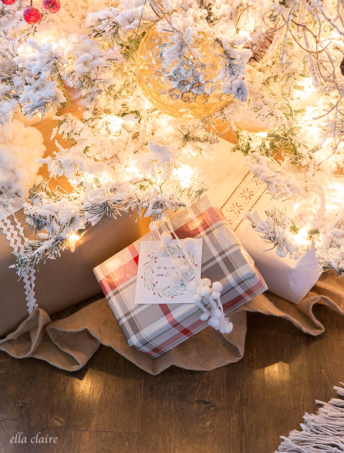 Gift Wrapping ideas with free printable tags