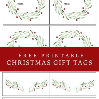 simple and elegant free printable Christmas gift tags for all of those holiday gifts this season.