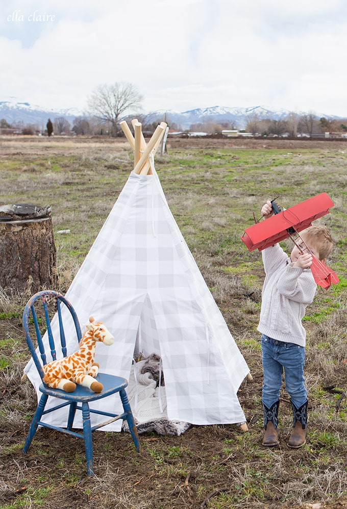 Build an adorable teepee for your child in just one afternoon.- sturdy, washable, stored easily, and sets up in seconds.