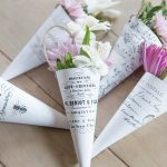 French May Day Flower Cones | Printable