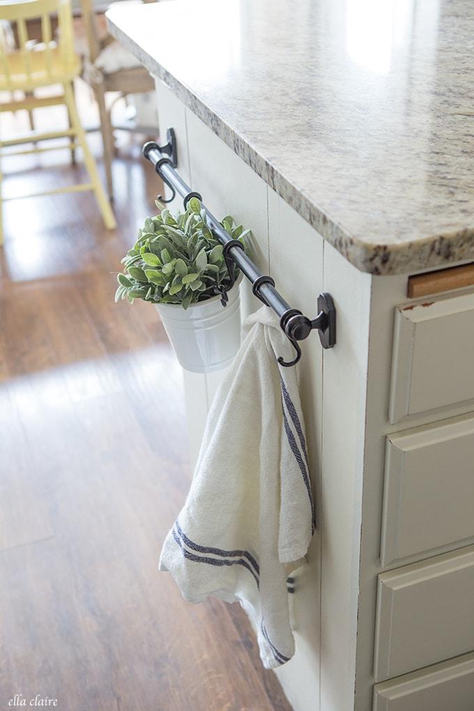 Farmhouse IKEA Kitchen Towel Rack