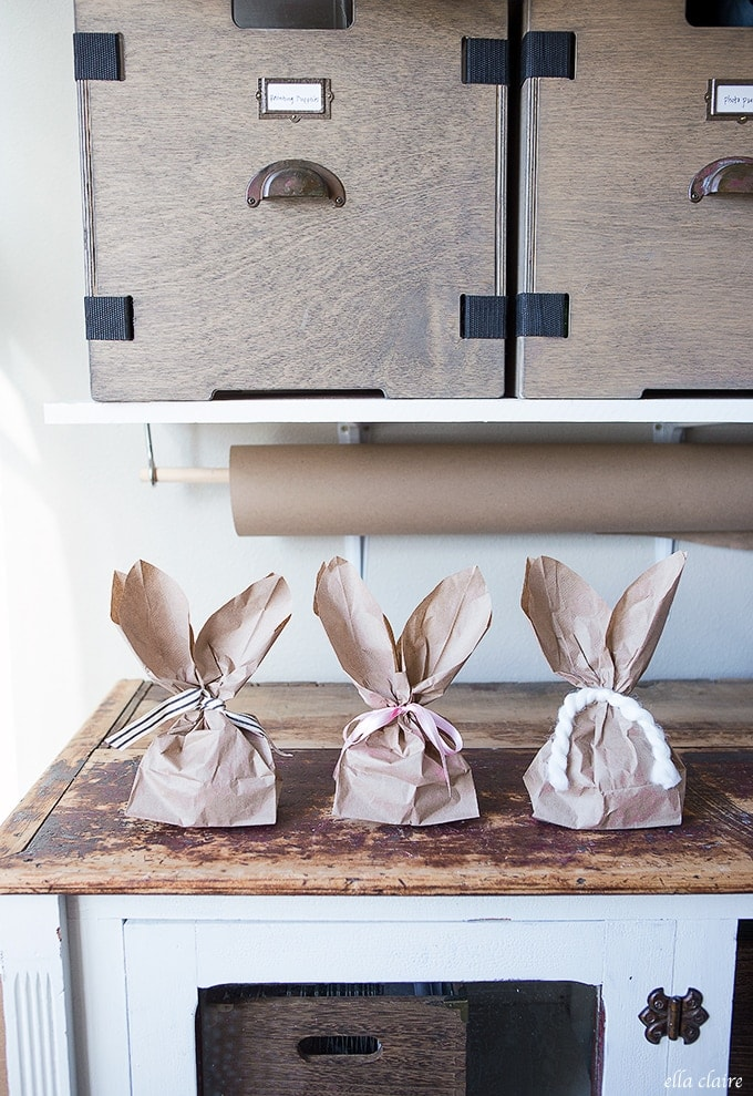 Bunny Ears Paper Bags with printable template