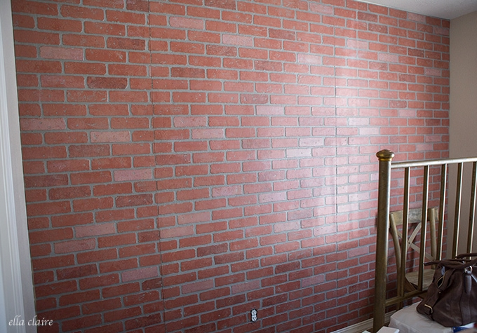 How to German Smear/ German Schmear Faux Brick Wall