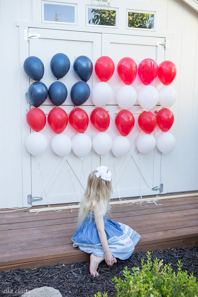 Patriotic Balloon Flag for 4th of July or Memorial Day