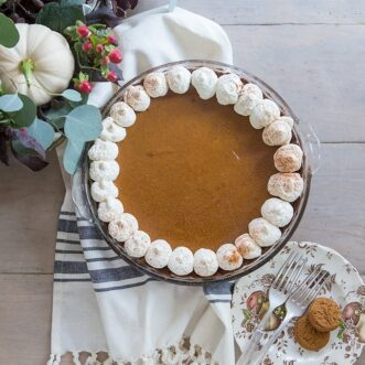 Pumpkin Custard Pie with Gingersnap Crust