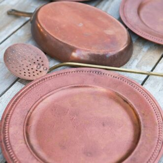 DIY Vintage Copper Charger Plates