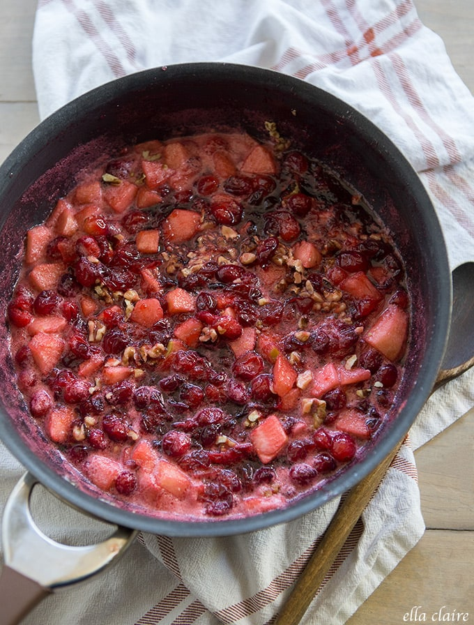 Apple Walnut Cranberry Sauce