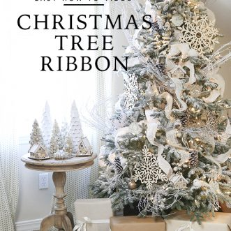christmas tree decorating and ribbon tips