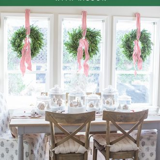 How to hang a wreath with ribbon so it hangs straight- an easy DIY tutorial for beautiful Christmas wreaths every time!