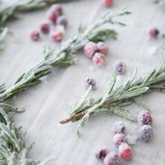 Sugared Rosemary Sprigs