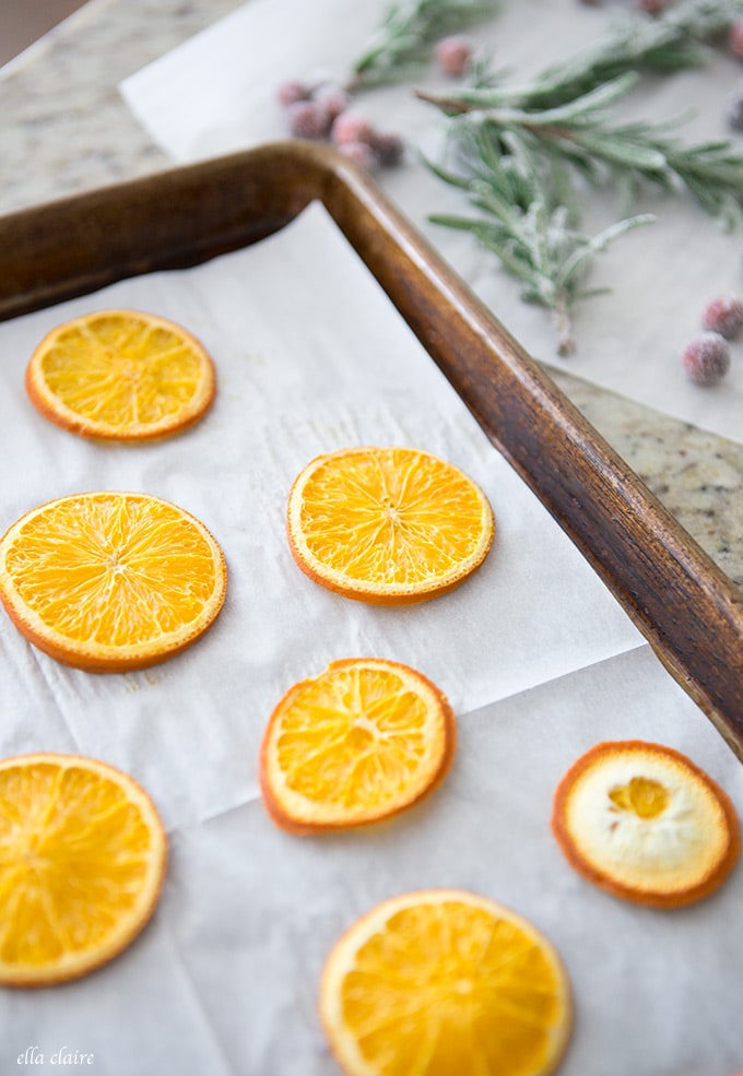DIY dried oranges