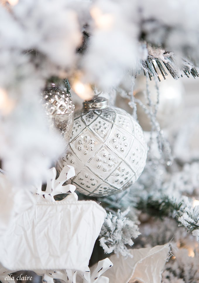 Frosted and distressed ornaments
