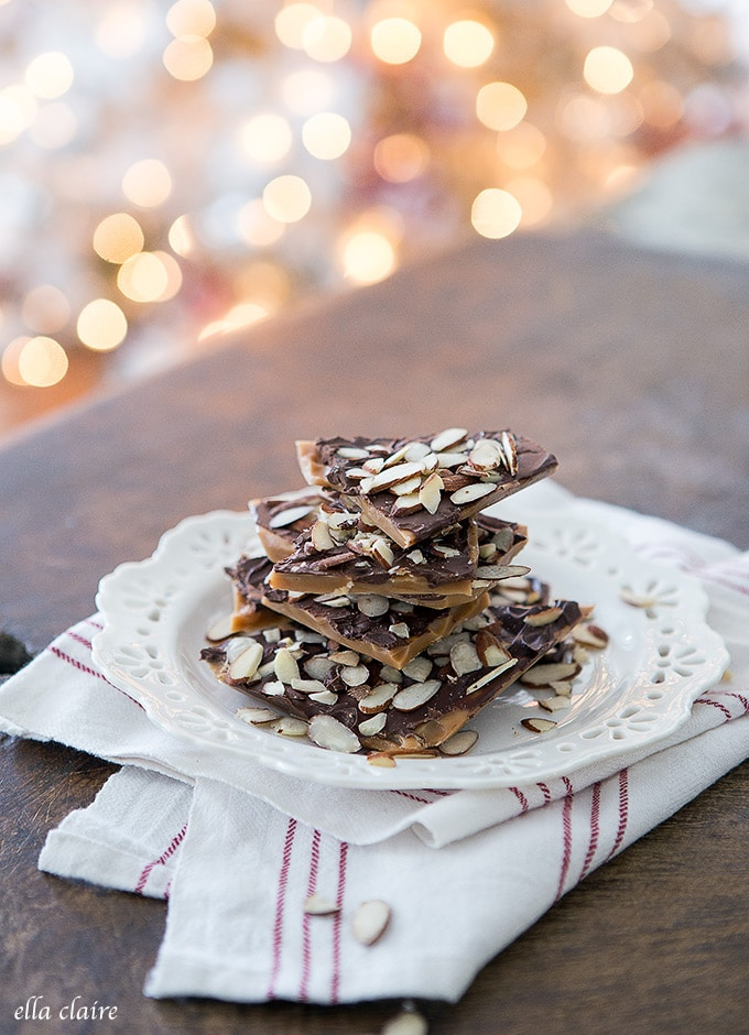 Nonna's Famous Toffee- A Christmas Favorite!