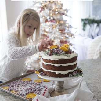 This moist and delicious gingerbread cake with cream cheese frosting is the best Christmas dessert recipe or a perfect holiday cake for a party.