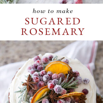 sugared rosemary tutorial and recipe