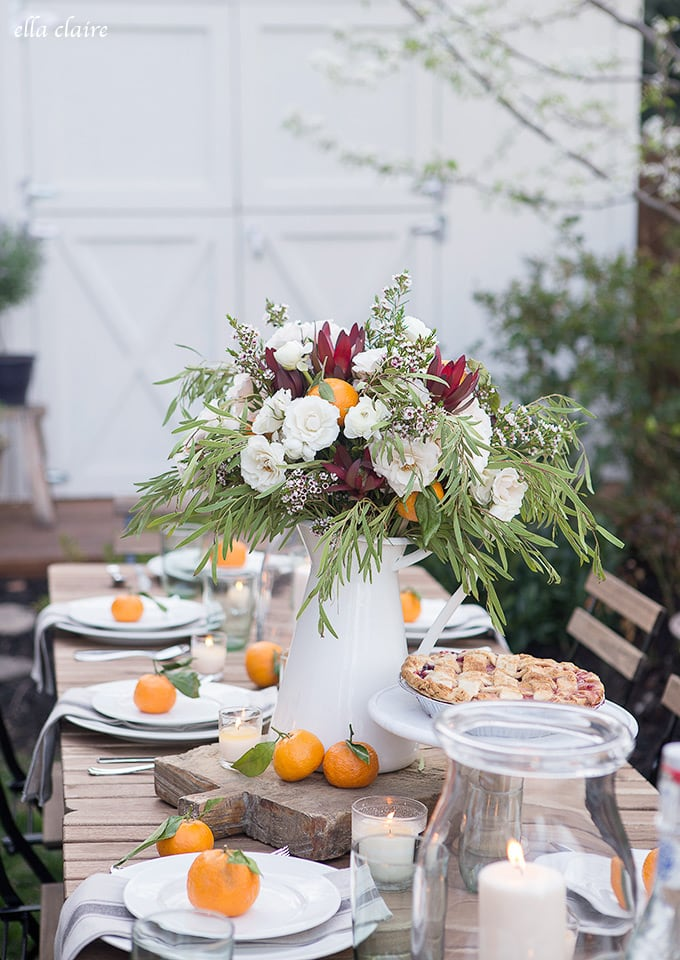 Simple Outdoor Entertaining- vintage farmhouse style