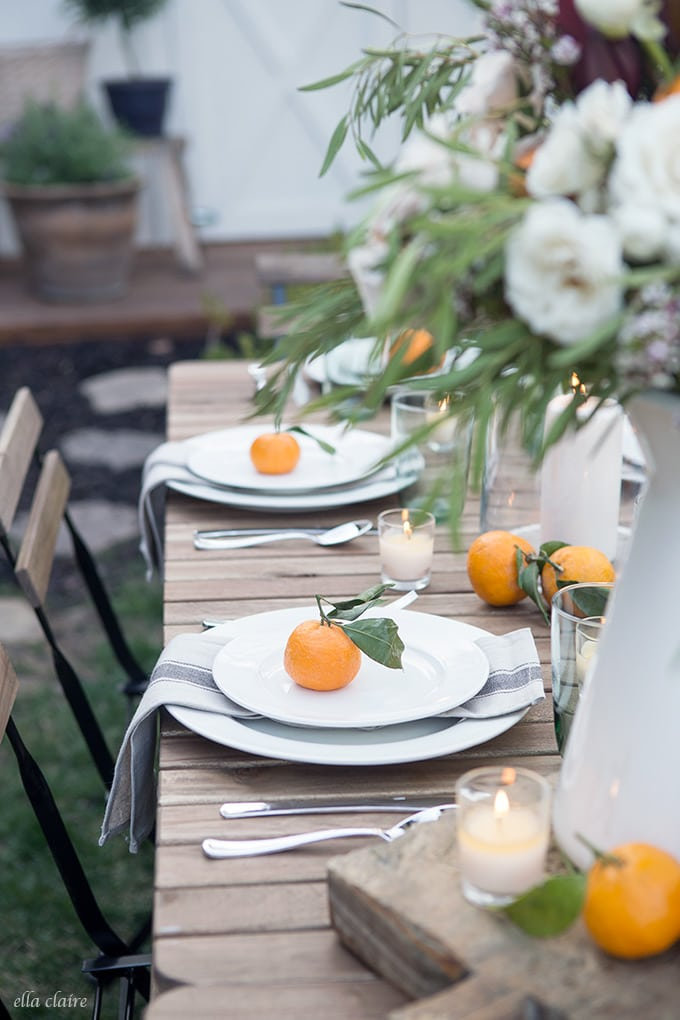 Simple Outdoor Entertaining with basics