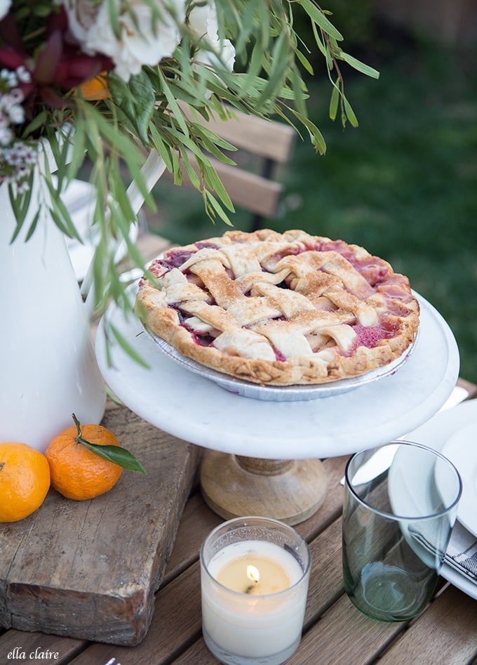 Nothing says summer entertaining like a fresh baked pie